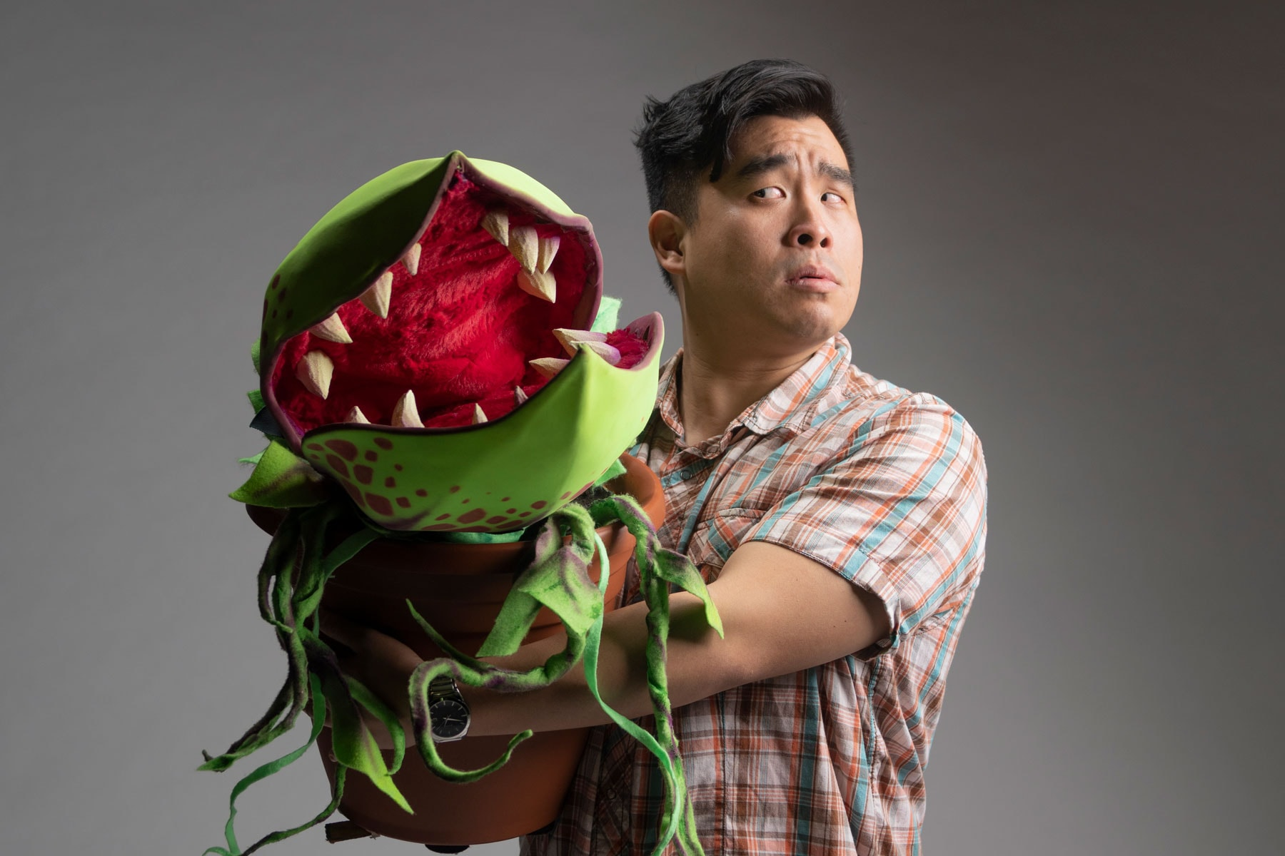 Audrey II and Seymour (Phil Wong)